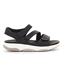 Heavenly Feet Touch And Close Leisure Sole Sandals Wide E Fit