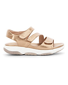 Heavenly Feet Touch And Close Leisure Sole Sandals Extra Wide EEE Fit