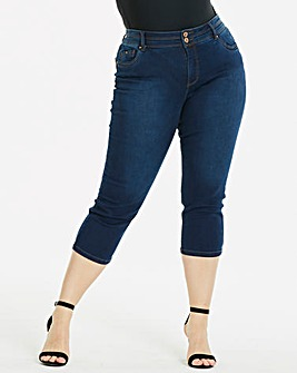 Indigo Shape & Sculpt Crop Jeans