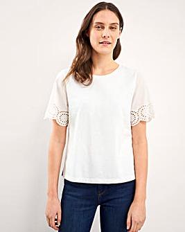 White Stuff Belle Broderie T-Shirt