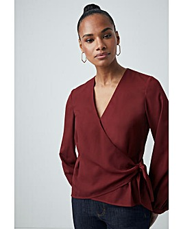 French Connection Wrap Blouse