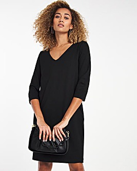 Selected Femme V-Neck Shift Dress