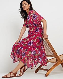 Joe Browns Ruffle Hem Printed Dress