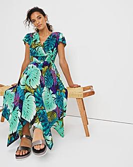 Joe Browns Palm Print Wrap Dress
