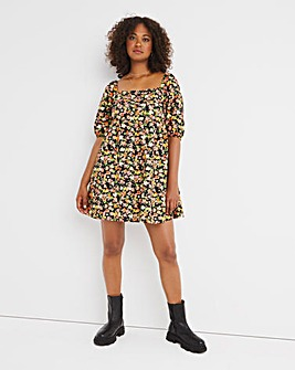 Nobody's Child Eugenia Puff Sleeve Mini Dress