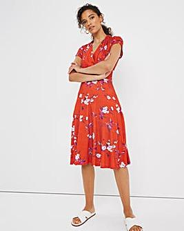 Joe Browns Short Wrap Print Dress