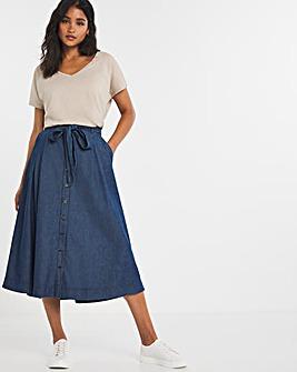 Joe Browns Denim Midi Skirt