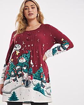 Joe Browns Christmas Snowman Printed Tunic