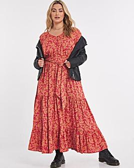 Joe Browns Belted Floaty Printed Dress