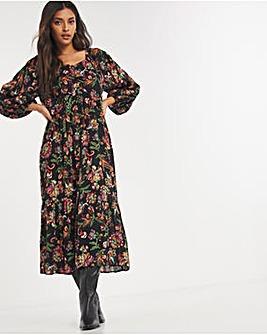 Joe Browns Tiered Printed Dress