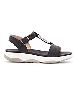 Heavenly Feet T Bar Trim Sandals EEE Fit