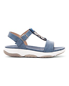 Heavenly Feet T Bar Trim Sandals Wide E Fit
