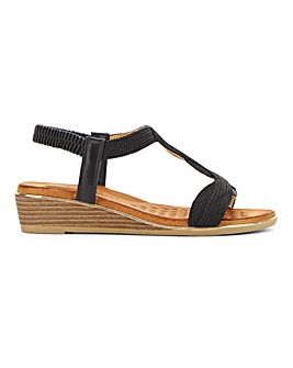 Heavenly Feet Wedge Sandals E Fit