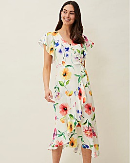 Phase Eight Athena Floral Frill Dress