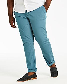 Blue Regular Fit Stretch Chinos 33 Inch