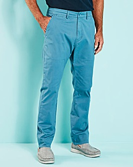 Blue Regular Fit Stretch Chinos 29 Inch