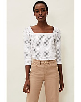 Phase Eight Broderie Blouse