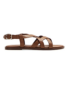 Leather Crossover Sandals E Fit