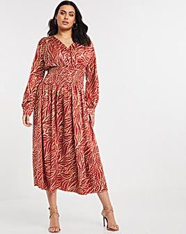 Little Mistress Shirred Waist Maxi Dress