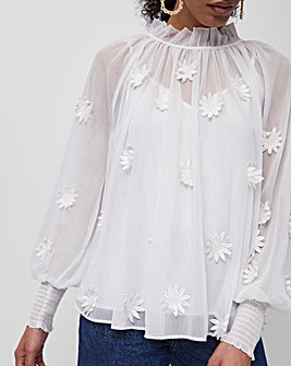 French Connection Aziza Lace Top