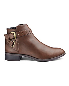 Eira Buckle Detail Boots Extra Wide Fit