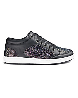 Minah Glitter Detail Mid Tops Wide Fit