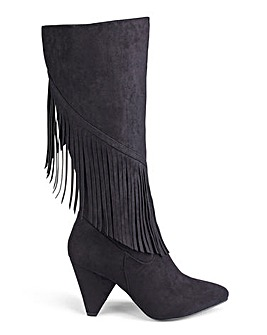 Brody Fringed Boots Standard Wide Fit
