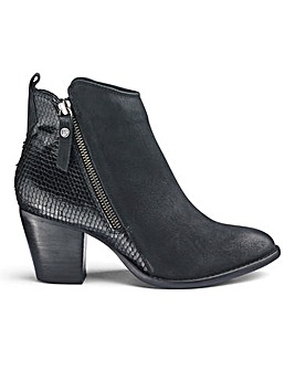Dune Wide Fit Pontoon Ankle Boot