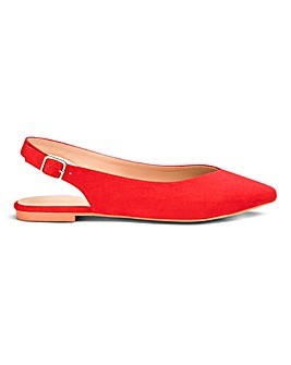 Lana Pointed Slingbacks Extra Wide EEE Fit