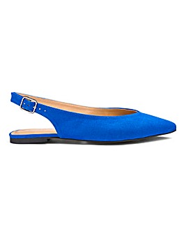 Lana Pointed Slingbacks Extra Wide Fit