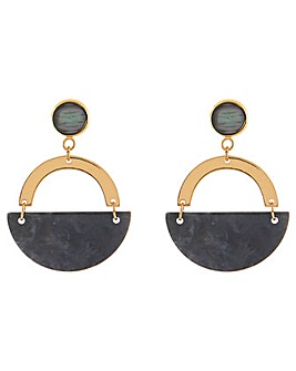 Accessorize Maya Cresent Earrings