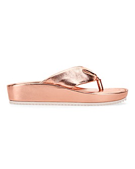 Leather Toe Post Mule Sandals Extra Wide EEE Fit