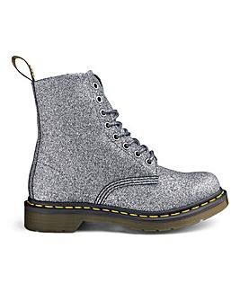 Dr Martens 8 Eyelet Boot Glitter PU