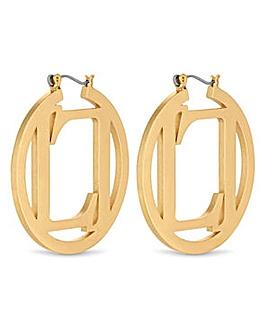 Lipsy Gold Lipsy Hoop Earring