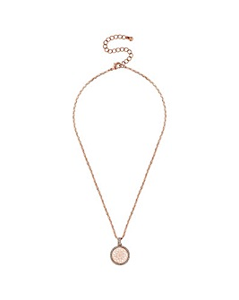 Lipsy Multi Tone Filigree Disc Necklace