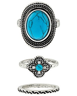 Accessorize 3 X Ethnic Turquoise Set