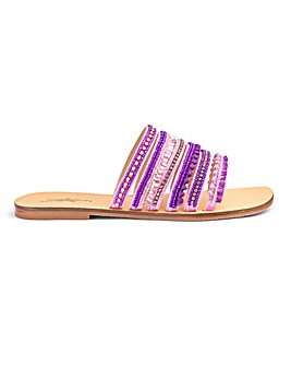 Joe Browns Jewelled Sandal Wide E Fit