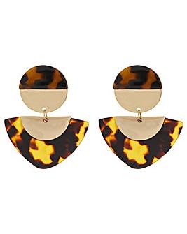 Accessorize Tort Statement Earrings