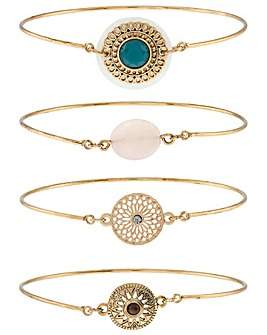 Accessorize Charmy Bangle Pack