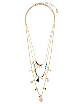 Accessorize Nomad Layered Charmy Pendant