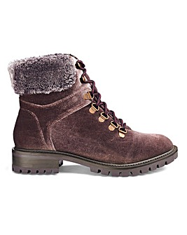 Janina Faux Fur Trim Hiker Boot Ex Wide