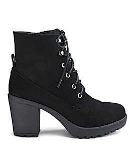 Stormy Lace Up Boots Wide Fit
