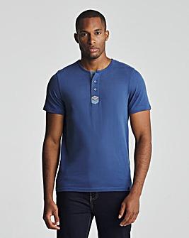 Joe Browns True Navy Henley T-Shirt