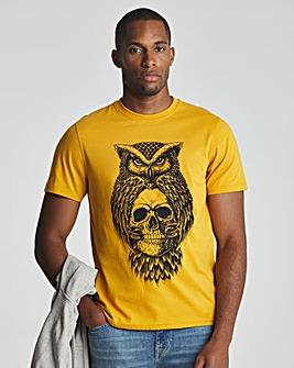 Joe Browns Mustard Owl Skull T-Shirt