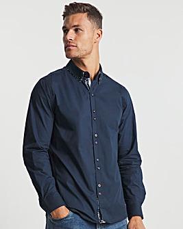 Joe Browns Navy Double Collar Shirt Long