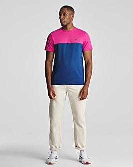 Voi Navy/Pink Distress T-Shirt Long