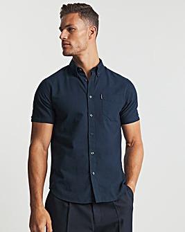 Ben Sherman Dark Navy Signature Short Sleeve Organic Cotton Oxford Shirt