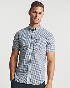Ben Sherman Persian Blue Short Sleeve Signature Gingham Shirt