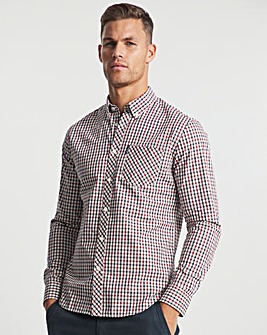 Ben Sherman Red Long Sleeve Signature House Check Shirt