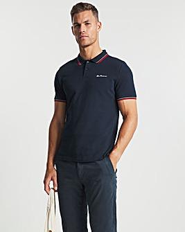 Ben Sherman Dark Navy Short Sleeve Signature Tipped Polo